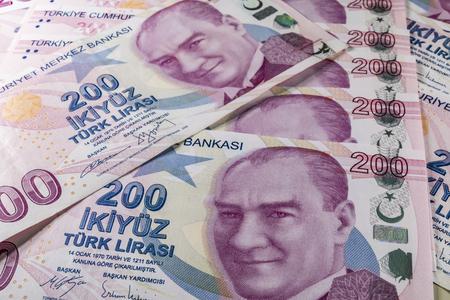 two hundred turkish liras Stok Fotoğraf - 123662952