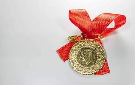 half Turkish gold lira