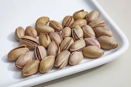 close up shelled pistachios Stok Fotoğraf