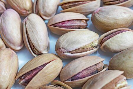 close up shelled pistachios Stok Fotoğraf - 127605956