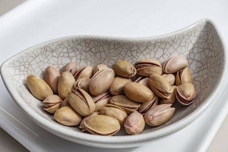 close up shelled pistachios Stok Fotoğraf - 127605989