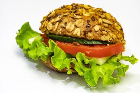 close up sandwich for breakfast