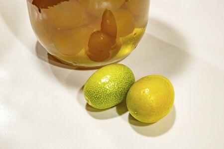 close up kumquat fruits Stock Photo