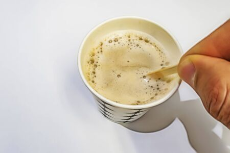 instant coffee with milk