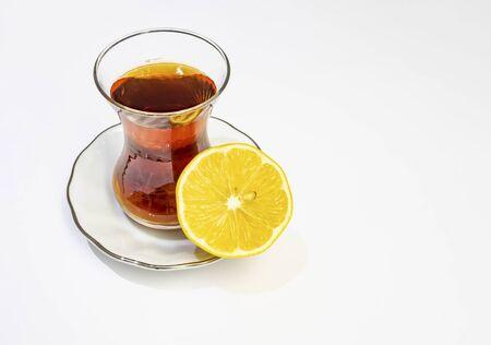 turkish tea and half lemon