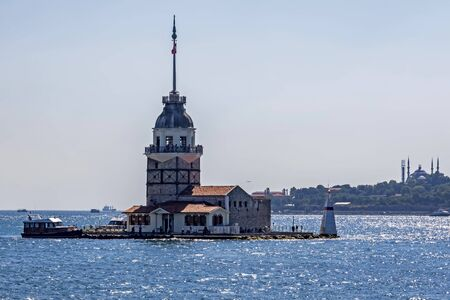 tourist icon of istanbul, maiden's tower Illusztráció