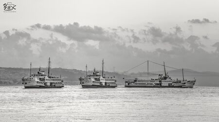 cityscape and landscape from istanbul with boats