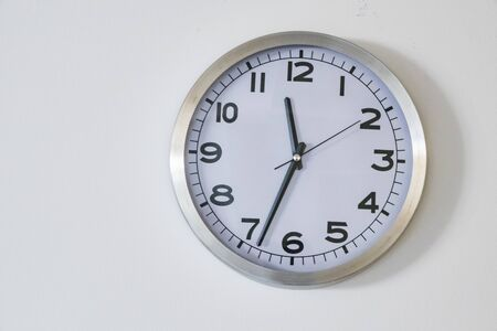 clock on a white background Illusztráció