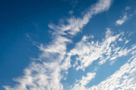 blue sky with clouds in nature