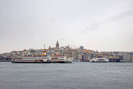 istanbul, turkey-february 18,2021.Istanbul is the dream city between europe and asian continent. Touristic views from old town and istanbul in winter season with its historical and natural beauties.