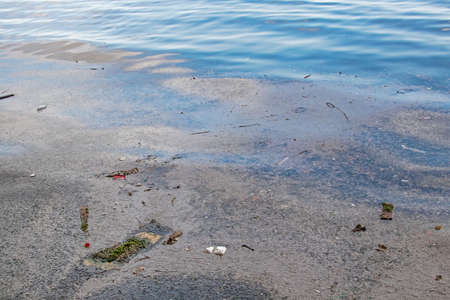 Environmental pollution in the sea and nature Banco de Imagens