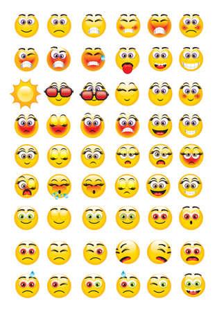 iconos gestuales con una variedad de expresiones