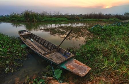 Wooden Boat at Dawn photo