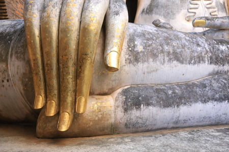 aukana buddha: Buddha Sculpture Stock Photo