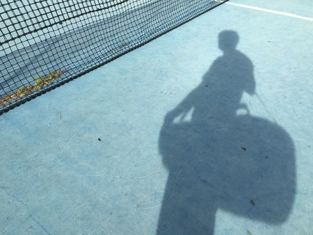 surface: Old tennis court lines Stock Photo