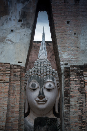 blessing: The statue of Buddha placed in the Asian temple for blessing or traditional ceremony.