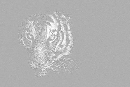Black and white wildlife animal with low key background Stock Photo