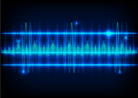 Abstract technology background and Sound waves