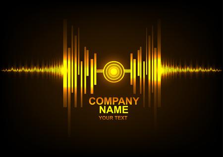 Logo Zusammenfassung Technologie Hintergrund und Schallwellen Logo