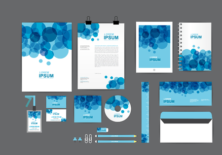 corporate identity template  for your business B 向量圖像
