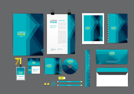 stationary set: corporate identity template  for your business C Illustration