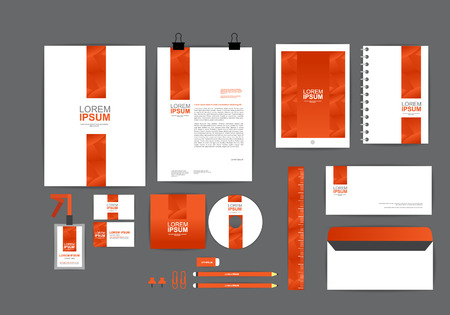stationary set: corporate identity template  for your business F Illustration