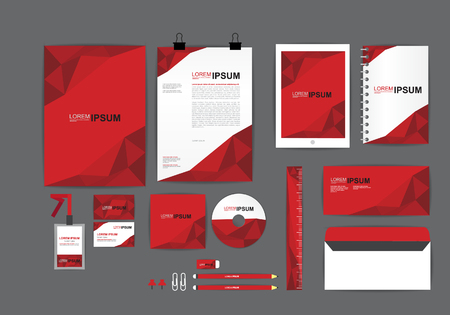 stationary set: corporate identity template  for your business H