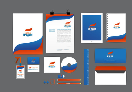 letter envelope: corporate identity template  for your business K