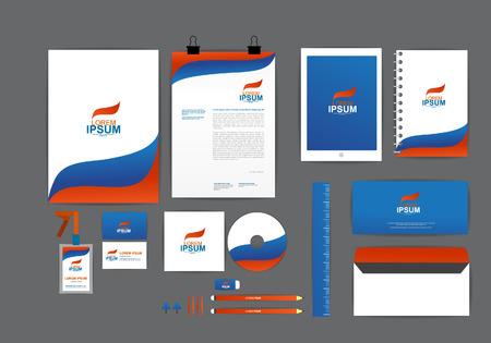 sobres para carta: Modelo de la identidad corporativa para su negocio K Vectores