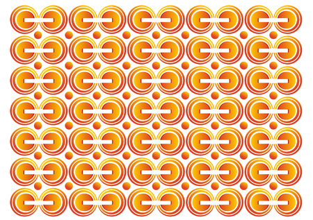backgound: orange with circle backgound