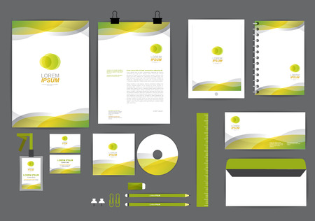 curve: corporate identity template  for your business Y