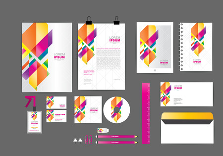 corporate identity template  for your business 004 일러스트