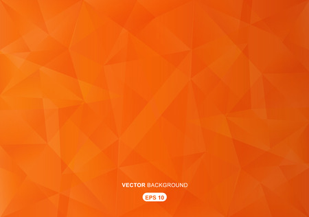 orange abstract  geometric background with polygons Illustration