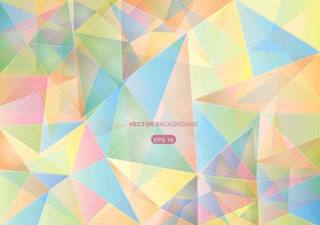 colores pastel: Fondo geométrico abstracto con colores pastel polígonos Vectores