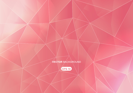 shape triangle: pink abstract  geometric background with polygons
