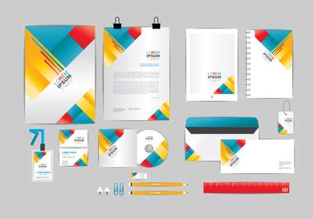 corporate identity template  for your business 008 版權商用圖片 - 50693442