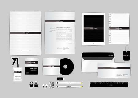 envelope design: corporate identity template  for your business 017