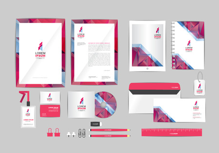letterhead design: corporate identity template  for your business 022