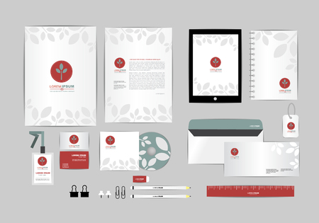 id card: corporate identity template  for your business 023
