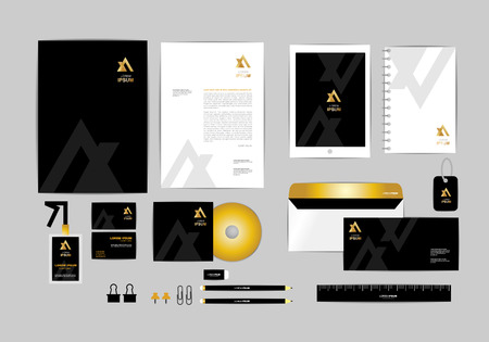 envelope design: corporate identity template  for your business 029