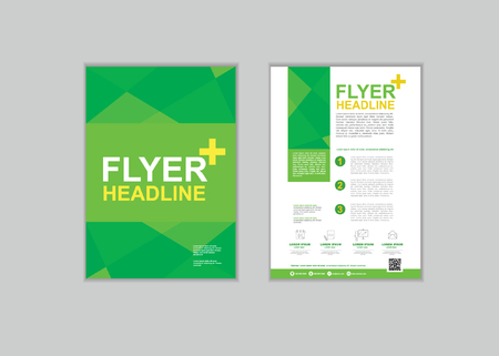 a4: Brochure Flyer design Layout template in A4 size