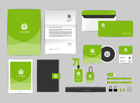 letter envelope: corporate identity template includes CD Cover, Business Card, folder, ruler, Envelope and Letter Head Designs