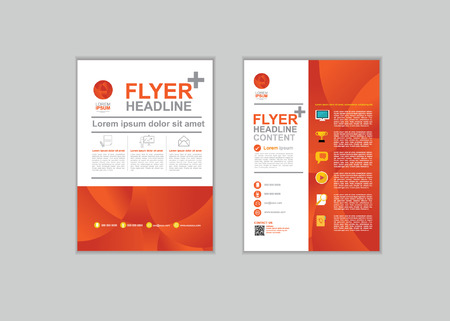 page layout: Brochure Flyer design Layout template in A4 size