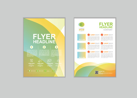 fl: Brochure Flyer design Layout template in A4 size