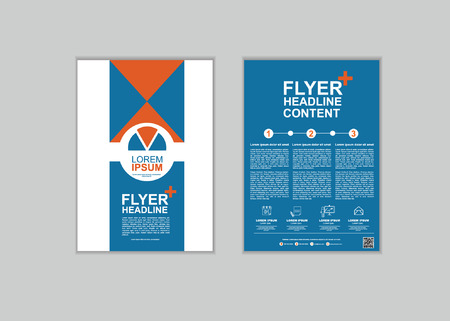 report cover design: Brochure Flyer design Layout template in A4 size set