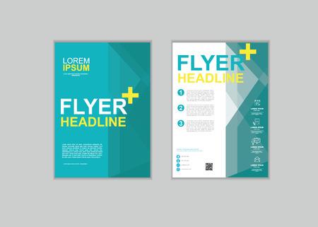 fl: Brochure Flyer design Layout template in A4 size set