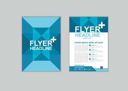 a4: Brochure Flyer design Layout template in A4 size set