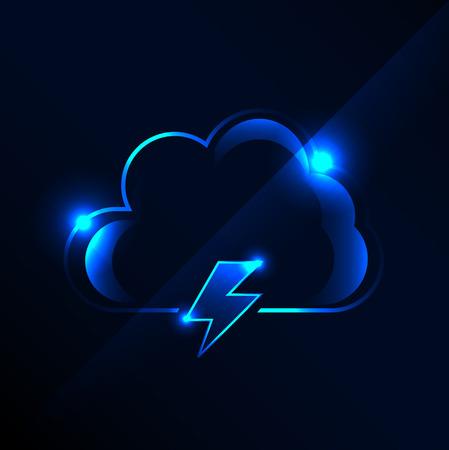 cloud: cloud icon Illustration