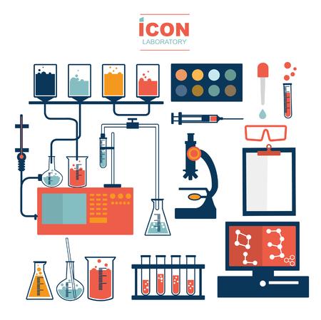 laboratory icons design