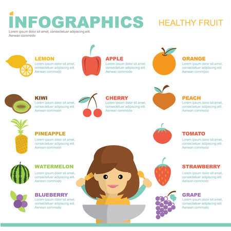 food to eat: infographic healthy fruit design